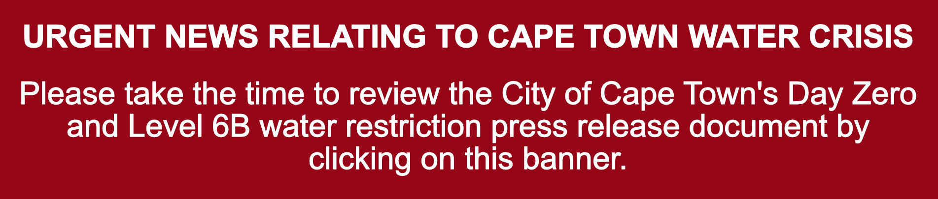 Cape Town water restrictions